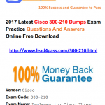 [100% Pass Rate] Update Latest Cisco 300-210 Dumps PDF Materials And VCE Youtube Free Demo
