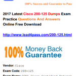 [100% Pass Rate] Latest Cisco 200-125 Dumps Exam Practice Materials And Youtube Free Demo