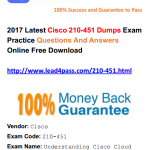 [100% Pass Rate] Lead4pass 210-451 Dumps Latest Cisco Real Exam Answers And Youtube Free Updated