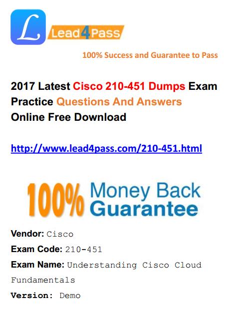 lead4pass 210-451 dumps