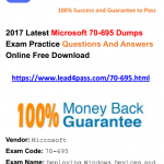 [100% Pass Rate] High Quality Microsoft 70-695 Dumps Exam Practice Files And Youtube Free Shared