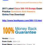 [100% Pass Rate] Real Cisco CCDP 300-115 Dumps Exam Training Materials And Youtube Free Shared