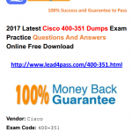 [100% Pass Rate] What is Latest Cisco CCIE Wireless 400-351 Dumps Exam Questions And Youtube Demo